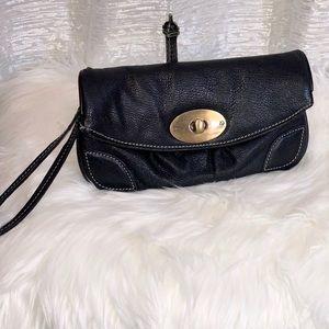Leather Latico wristlet/clutch